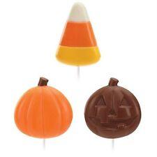 Candy Corn & Pumpkin Halloween Chocolate Lollipop Candy Mold from Wilton #1433