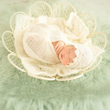 New Creative Photography Photo Prop Metal Flower Petals Basket for Newborn Baby