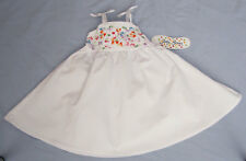 Girl's White Cotton Embroidered Sundress - Size 12 mos NWT