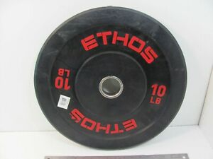"""SINGLE (1) 10lb Ethos Olympic Rubber Bumper Plates Weights 2"""""""