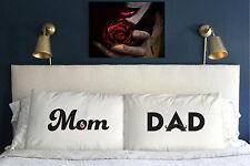 Mom & Dad  Pillow Case  Valentine's Day Gift    Anniversary Present m34