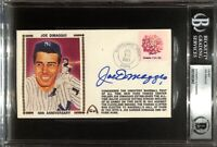 Joe DiMaggio Signed Slabbed New York Yankees Envelope BGS