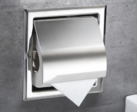 Stainless Steel Bathroom Toilet Paper Holder Roll Tissue Rack Box Wall Mounted