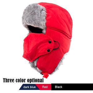 Men Women Kid Winter Russian Hat Trooper Bomber Snow Ski Ushanka Waterproof Warm