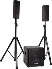 "IBIZA CUBE104 2.1 Aktiv Lautsprecher Set 10"" Subwoofer DJ PA SYSTEM USB SD EVENT"