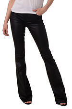 MARCIANO GUESS Jeans Size 25 Stretch Black Coated Look Bootcut Leg RRP €179