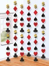 6 DEKO STRINGS CASINO PARTY 210cm Ketten Poker Roulette Black Jack Las Vegas
