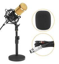 Microphone DJ PA Enregistrement Mic Broadcast Podcast Set Support Cable XLR Noir