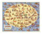 """Tucson Arizona Pictorial Map """"Old Pueblo"""" circa 1950 - 24 inches x 30 inches"""