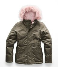 The North Face Girl's GREENLAND DOWN PARKA 550 Jacket New Taupe Green M 10-12
