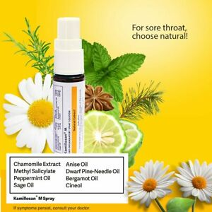 Kamillosan M Mouth Spray Chamomile Oral Bacterial Tonsil Bad Breath