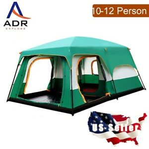 Big 10-12 person tent. 10'x14'x7' Water proof, ventilation, porch, Heavy duty!
