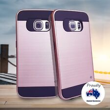 Samsung Galaxy S7 edge case–rose gold cover/  free glass curved screen protector