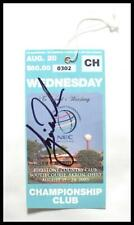 TIGER WOODS Signed 2003 NEC Golf Championship Ticket / Stub