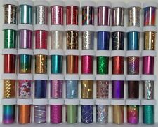 Nail Art Wrap Foil Transfer Glitter Sticker Foils Decal Decoration 30 50 100