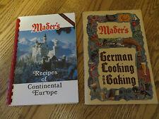 2 Mader's Restaurant German Cooking Baking & Recipes of Continental Europe Ckbks