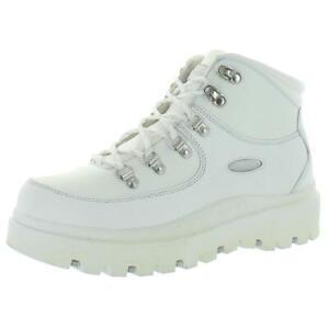 Skechers Womens Shindigs-Renegade Heart White Hiking Boots 9.5 Medium (B,M) 1449