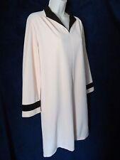 60's 70's Vintage Vanity Fair Plush Peach Brown Retro Contrast Zip Short Robe 14