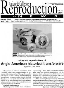 Anglo-American Historical Transferware L.A. Stamp Tokens - Reproduction Bulletin