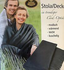 Stola-Decke, Umhang, Gartendecke, Fleecedecke 100x150 cm Gözze