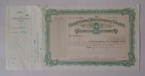 British Central Africa C° share 1937 Bradbury Specimen coat of arms railroad GB