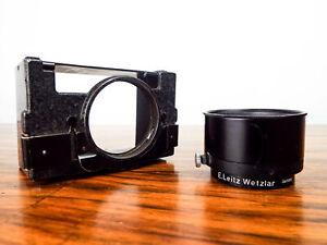 Vintage1930s Leica Summitar E Leitz Wetzlar Folding Lens Hood & Shade Germany
