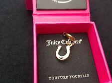 NIB Juicy Couture New Genuine Boxed Gold Diamanté Lucky Horseshoe Mini Charm