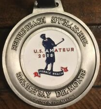Pebble Beach Spy Glass Hill Spanish Bay 1919 US Amateur 2018 Metal Golf Bag Tag