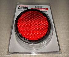 "Chris Products RR1R Safety Reflectors RED - Screw-On 2.4"" OD Made in USA"