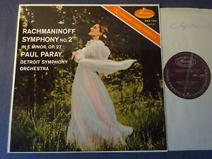 RACHMANINOV - SYMPHONY NO 2 LP, Detroit S/O, Paul Paray, MERCURY MMA 11052