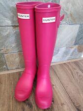 Hunter Pink Original Tall Wellington Boots size 3 (36)