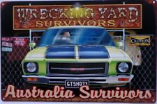 GTS HOLDEN HQ WRECKING YARD SURVIVOR ALL WEATHER TIN SIGN 450X300