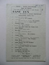 BAND BOX 1955 Hove Open Air Theatre Programme (Bert Seal Tommy Lewis)