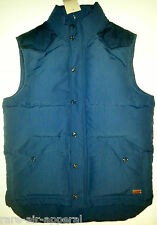 Levis WESTERN Mount Diablo DOWN VEST puffer NAVY BLUE JACKET mens MEDIUM