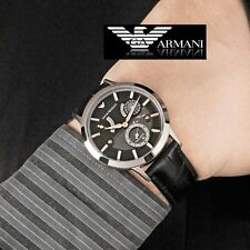EMPORIO ARMANI MEN'S AUTOMATIC BLACK POWER RESERVE WATCH AR4664