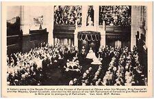 Postcard Canada Ottawa Senate Chamber Houses Of Parliament Queen Elizabeth F14