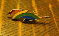 Rainbow LGBTQ Lightning Bolt Vintage Lapel Pin - Gay Pride Queer Fierce Badge