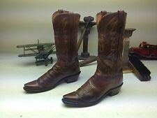 DISTRESSED LUCCHESE MAD DOG GOAT ROCKABILLY WESTERN COWBOY 1883 BOOTS SIZE 8.5 B