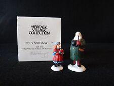 "Dept 56 Heritage Village ""Yes, Virginia"" retired 2000"