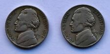 1938-S and 1939-S  JEFFERSON NICKELS  - BETTER DATES   -   NICE F and VG