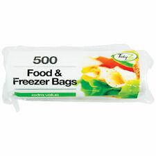 500 forte Nourriture Congélateur sacs de stockage sur un rouleau 17 cm x 19 cm