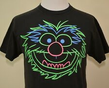 The Muppets t-shirt black large Animal glow in the dark Jim Henson TV show