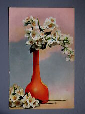 R&L Postcard: Still Life Orchid Type Flowers, Posted to Colley Sheffield