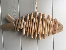Decorative Driftwood Style Hanging Fish , Natural Wood, Nautical ,Rustic
