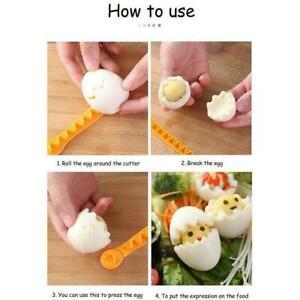 Eggs Flower Cutter Mold Cutter Slicer Bento Box Yellow Orange Tool Kitchen U8C0