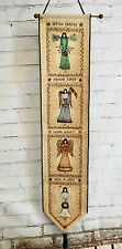 """ANGEL OF THE SEASONS 41"""" Bell Pull Tapestry Wall Hanging Cindy Shamp"""