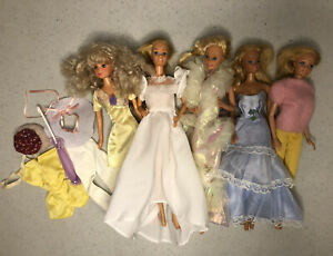 Lot of Vintage 1970s 1980s Mattel Barbies And Accessories