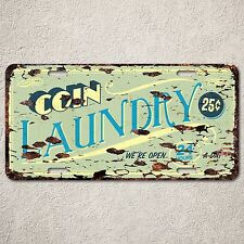 LP0090 Coin Laundary Auto Car License Plate Sign Rust Vintage Home Store Decor