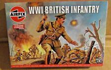 AIRFIX WW1 BRITISH INFANTRY 1:76 SCALE MODEL SOLDIERS UNPAINTED PLASTIC