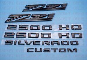 2020-2021 Chevrolet New Body Silverado 2500 HD Custom Z71 Black Emblem Kit OEM